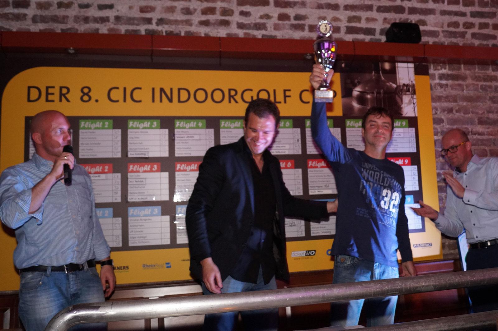 Sieger Torsten Klink des 8. CIC Indoorgolf Cup